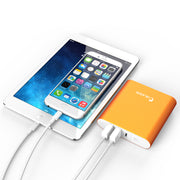 Aero 10400 mAh Dual Port External Battery Portable USB Charger Powerbank-Orange