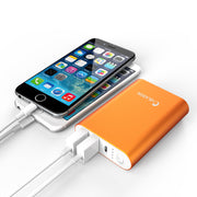 Aero 7800 mAh Dual Port Compact External Battery Portable USB Powerbank-Orange