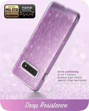 Samsung Galaxy S10 Cosmo Case-Glitter Purple