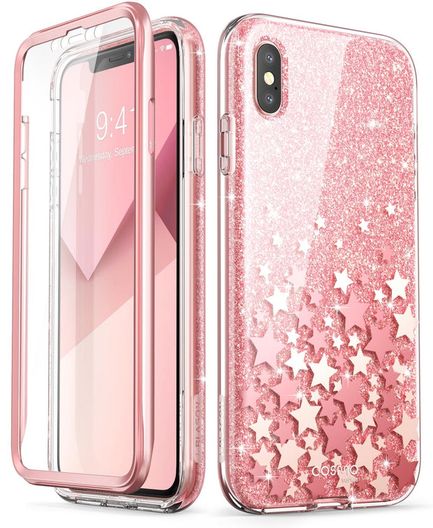 iPhone XS | X Cosmo Case-Glitter Pink