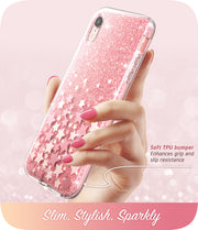 iPhone XR Cosmo Case-Glitter Pink