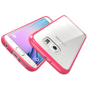 Samsung Galaxy S6 Edge Halo Case-Clear/Pink