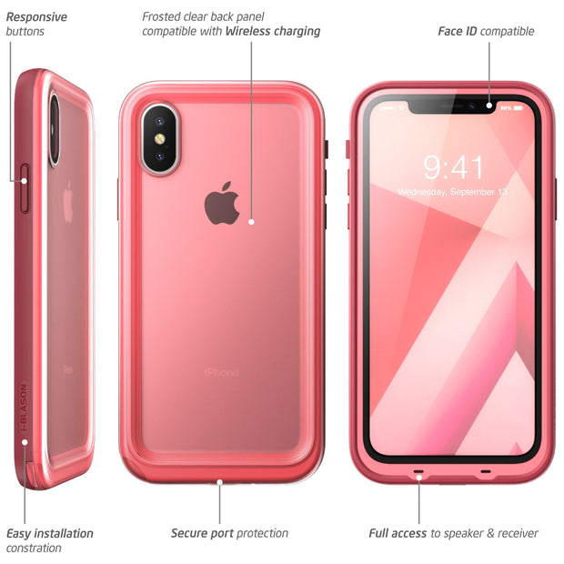 iPhone XS | X Aegis Waterproof Case-Pink