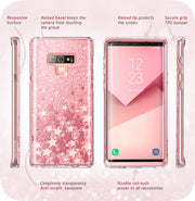Samsung Galaxy Note9 Cosmo Case-Glitter Pink