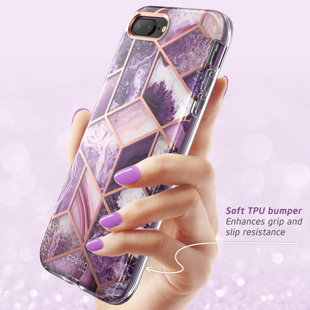 iPhone 8 Plus | 7 Plus Cosmo Case-Marble Purple