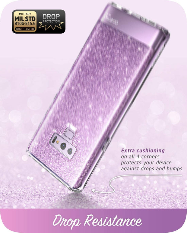 Samsung Galaxy Note9 Cosmo Case-Glitter Purple