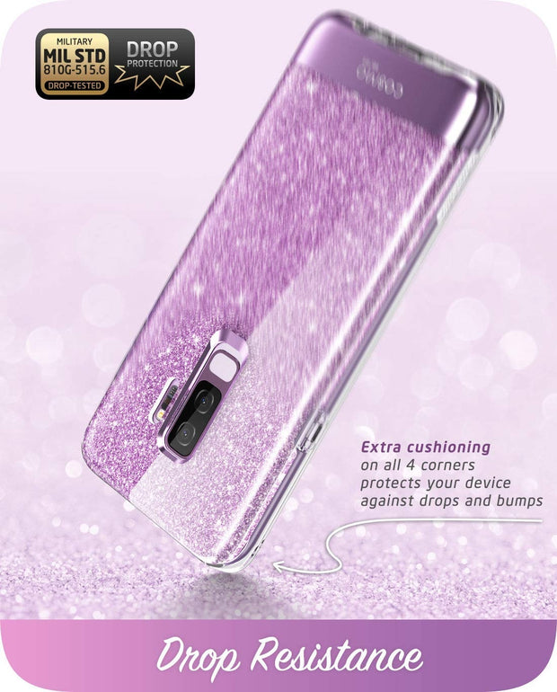 Samsung Galaxy S9 Plus Cosmo Case-Glitter Purple