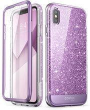 iPhone XS | X Cosmo Case-Glitter Purple