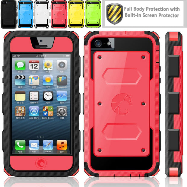 iPhone 5C Armorbox Case-Red