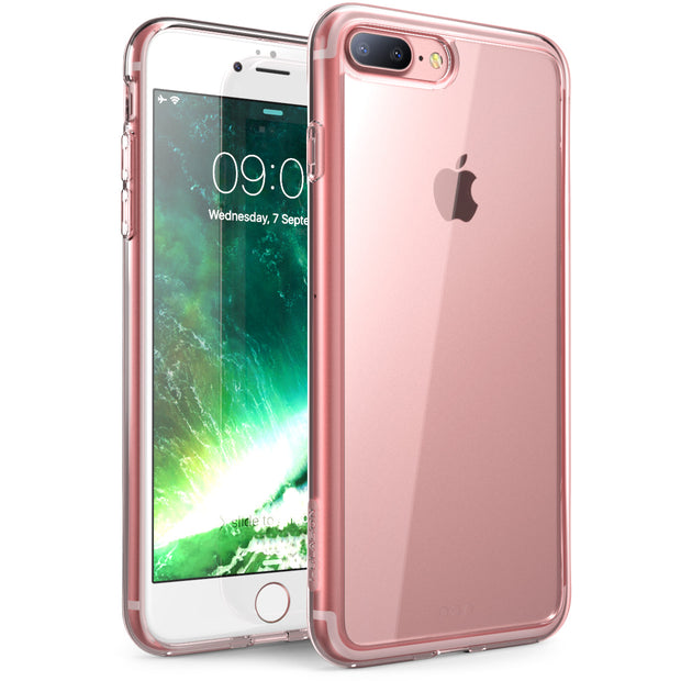 iPhone 8 Plus | 7 Plus Halo Case-Clear/RoseGold