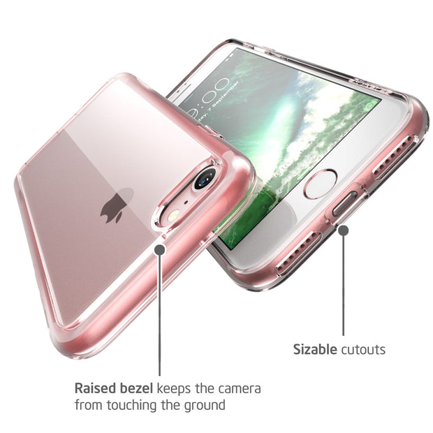 iPhone 7 Halo Case-Clear/RoseGold