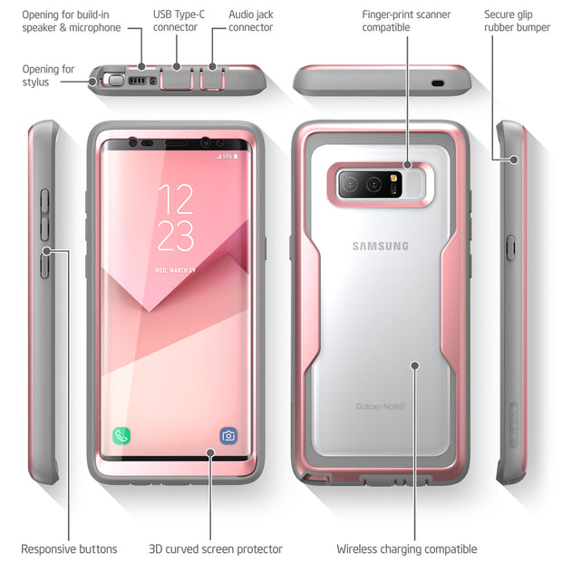 Samsung Galaxy Note 8 Magma Case-Rose Gold