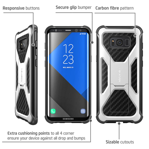 Samsung Galaxy S8 Transformer Case-White