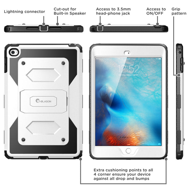 iPad Mini 4 Armorbox Case-White