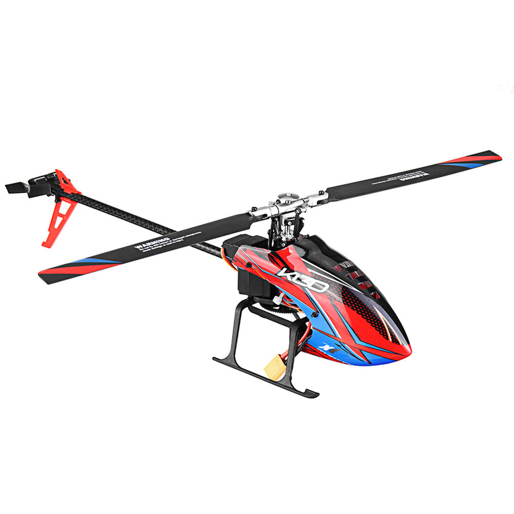XK K130 2.4G 6CH 3D6G System Flybarless Brushless RC Helicopter Compatible FUTABA S-FHSS - RTF