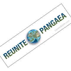 Reunite Pangaea Bumper Sticker