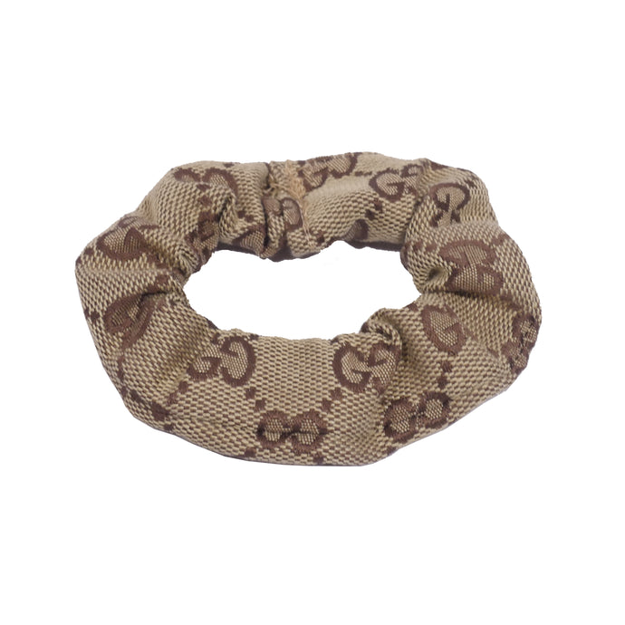 Gucci Hair Scrunchie - Tan