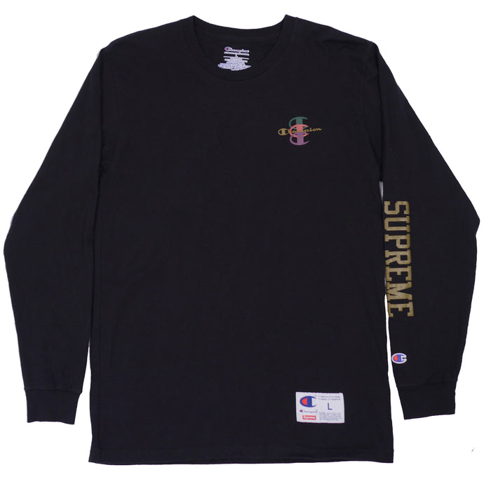 Supreme x Champion Stacked C Longsleeve