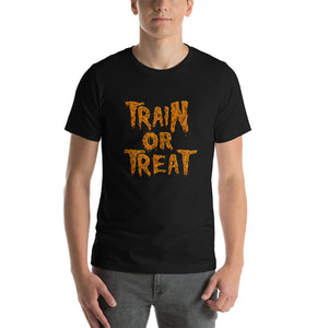kettlebell-junkie - Train Or Treat T-Shirt - Kettlebell Junkie - T-Shirt