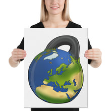 Load image into Gallery viewer, kettlebell-junkie - Earth Kettlebell Canvas - Kettlebell Junkie - Canvas