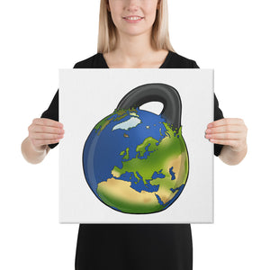kettlebell-junkie - Earth Kettlebell Canvas - Kettlebell Junkie - Canvas