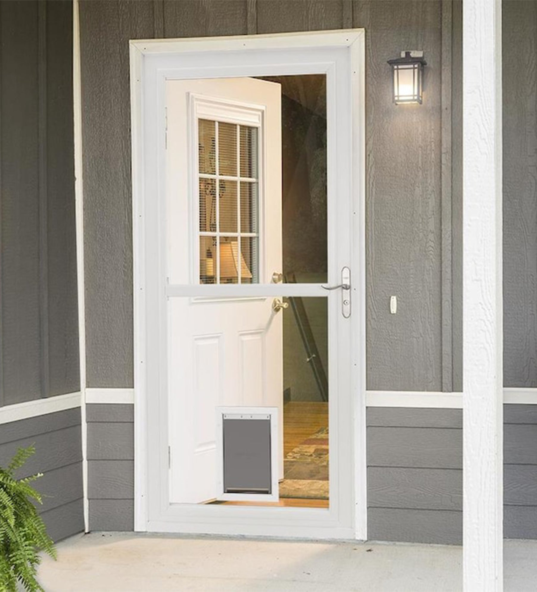 INSTALLED Larson Easy Vent Pet Door Storm Door w/ Hardware STARTING $841.99