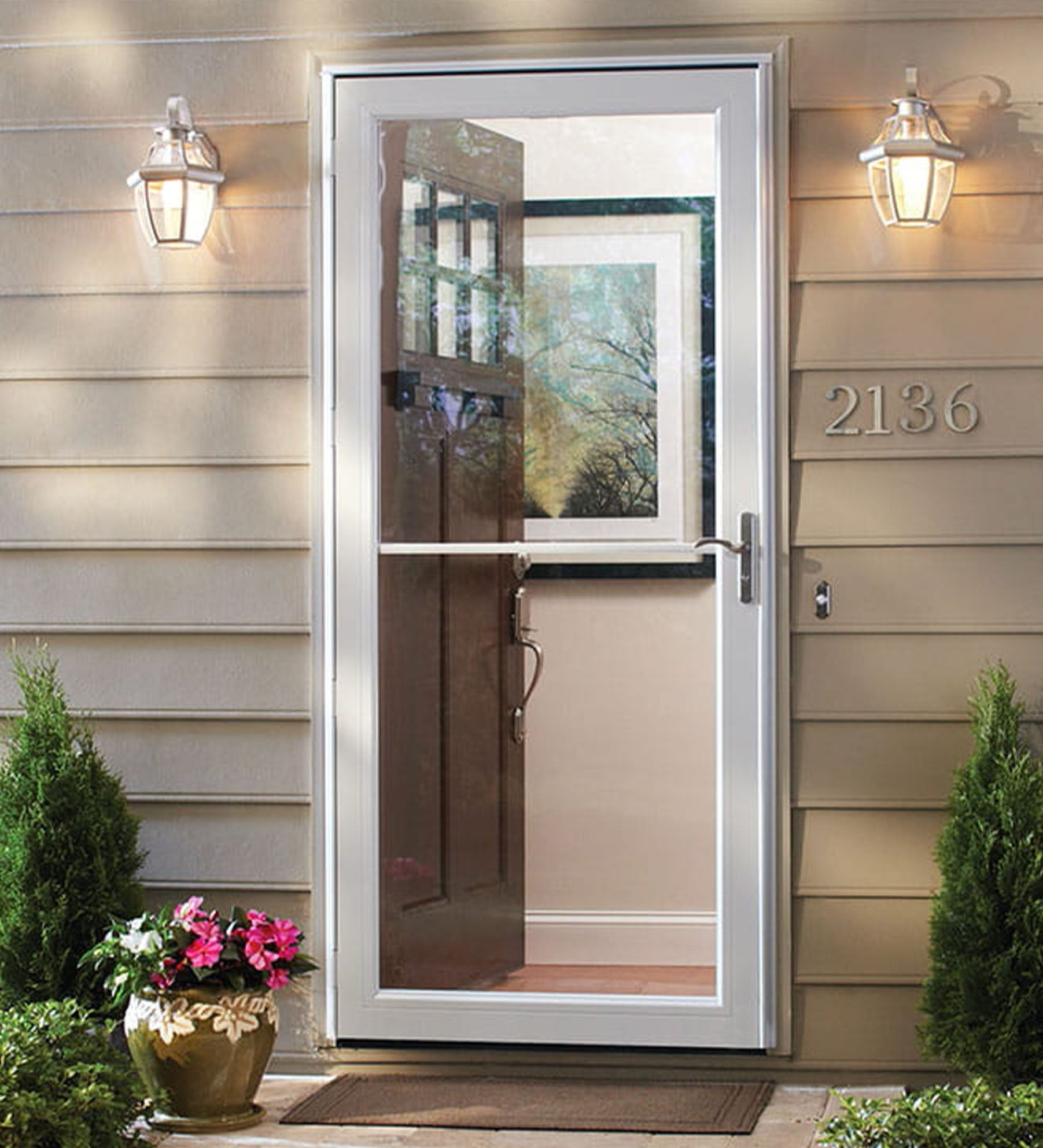INSTALLED Larson Easy Vent Full View Storm Door w/ Hardware        STARTING 700.99