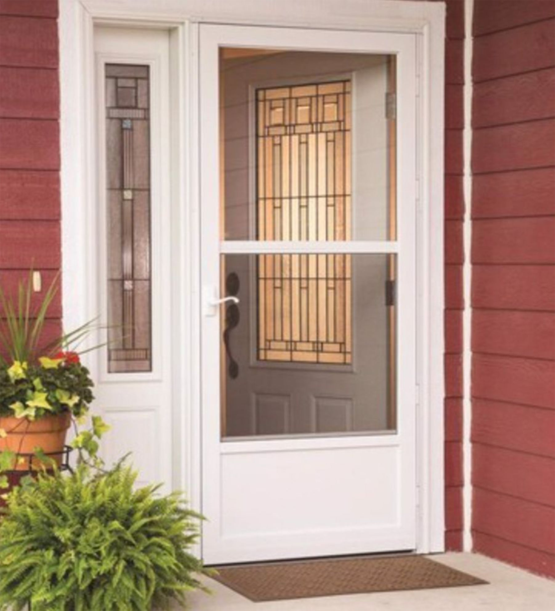 INSTALLED Larson Life Core Mid-view Reversa Screen Storm Door w/ Hardware STARTING $380