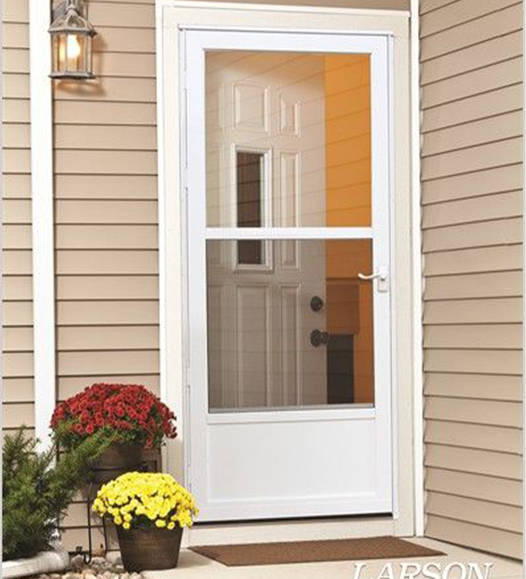 INSTALLED Larson Classic-View Reversa Screen Storm Door w/ Hardware STARTING $390