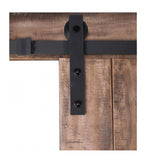 INSTALLED ReliaBilt Sandstone Stain Decor Stained Wood Barn Door Hardware Included