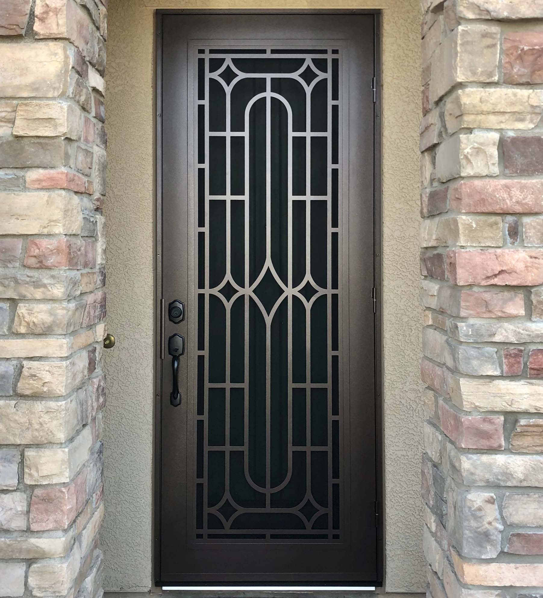 INSTALLED Precision Deco Perforated Single Security Door