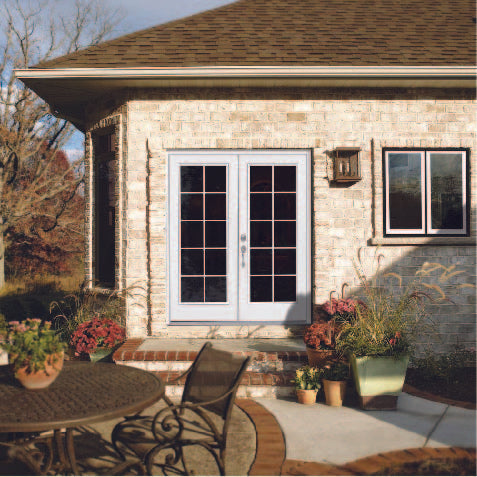 "INSTALLED Jeld-Wen with External Grids, Low -E Glass Steel 60"" x 80"" Double French Door     STARTING $1485.00"