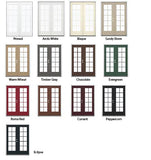 INSTALLED Jeld-Wen with In between Glass Grids, Low -E Glass Steel Double French Door STARTING $1503.00