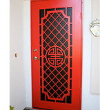 INSTALLED Precision Dynasty Perforated Single Security Door