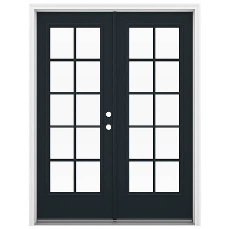 INSTALLED Jeld-Wen Ecilpse with external Glass Grids, Low -E Glass Steel Double French Door STARTING $1896