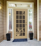 INSTALLED Titan Premium Aluminum Security Screen Single Door French Hummingbird     STARTING $1,110