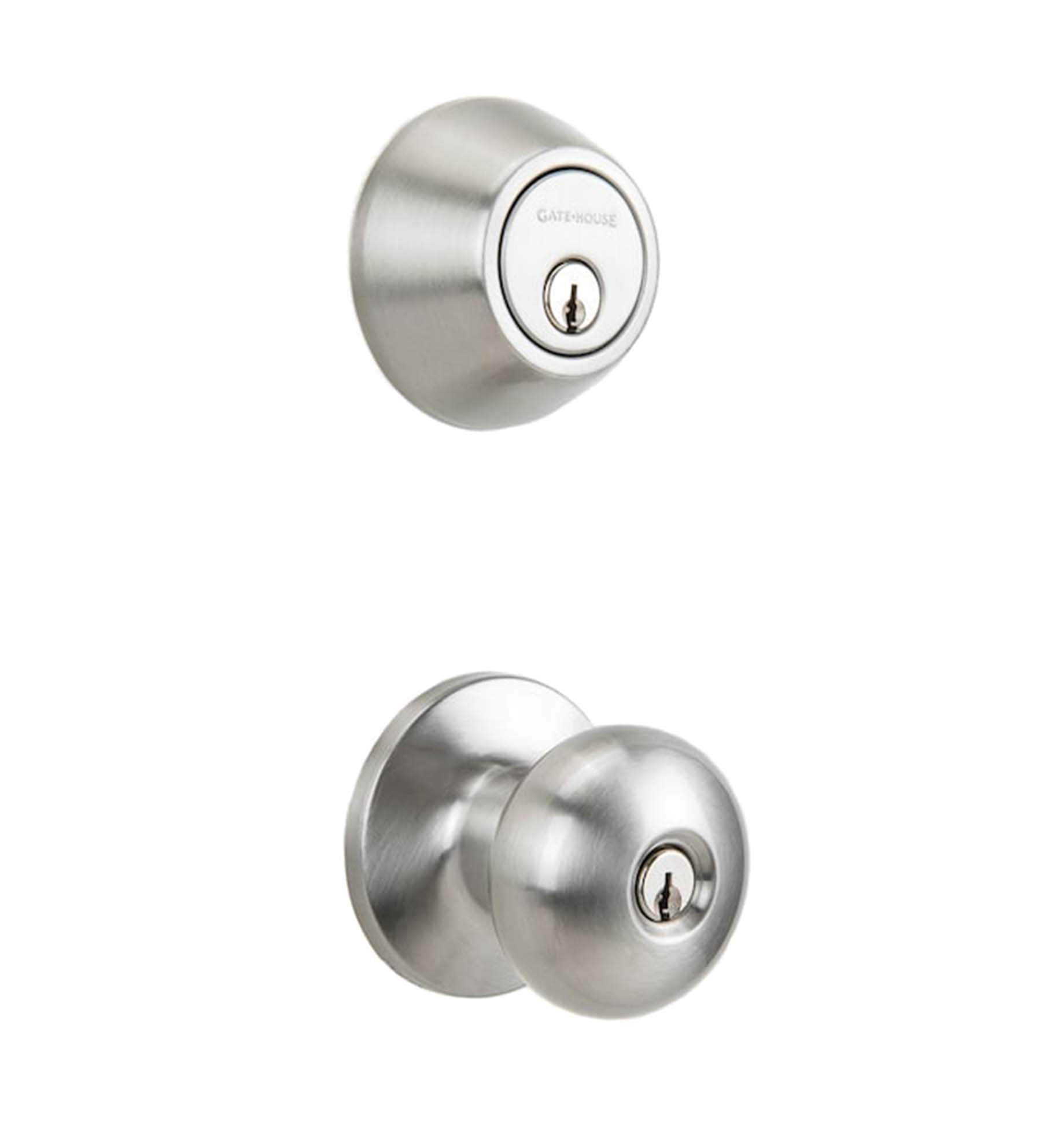 Gatehouse Single-Cylinder Knob and Deadbolt