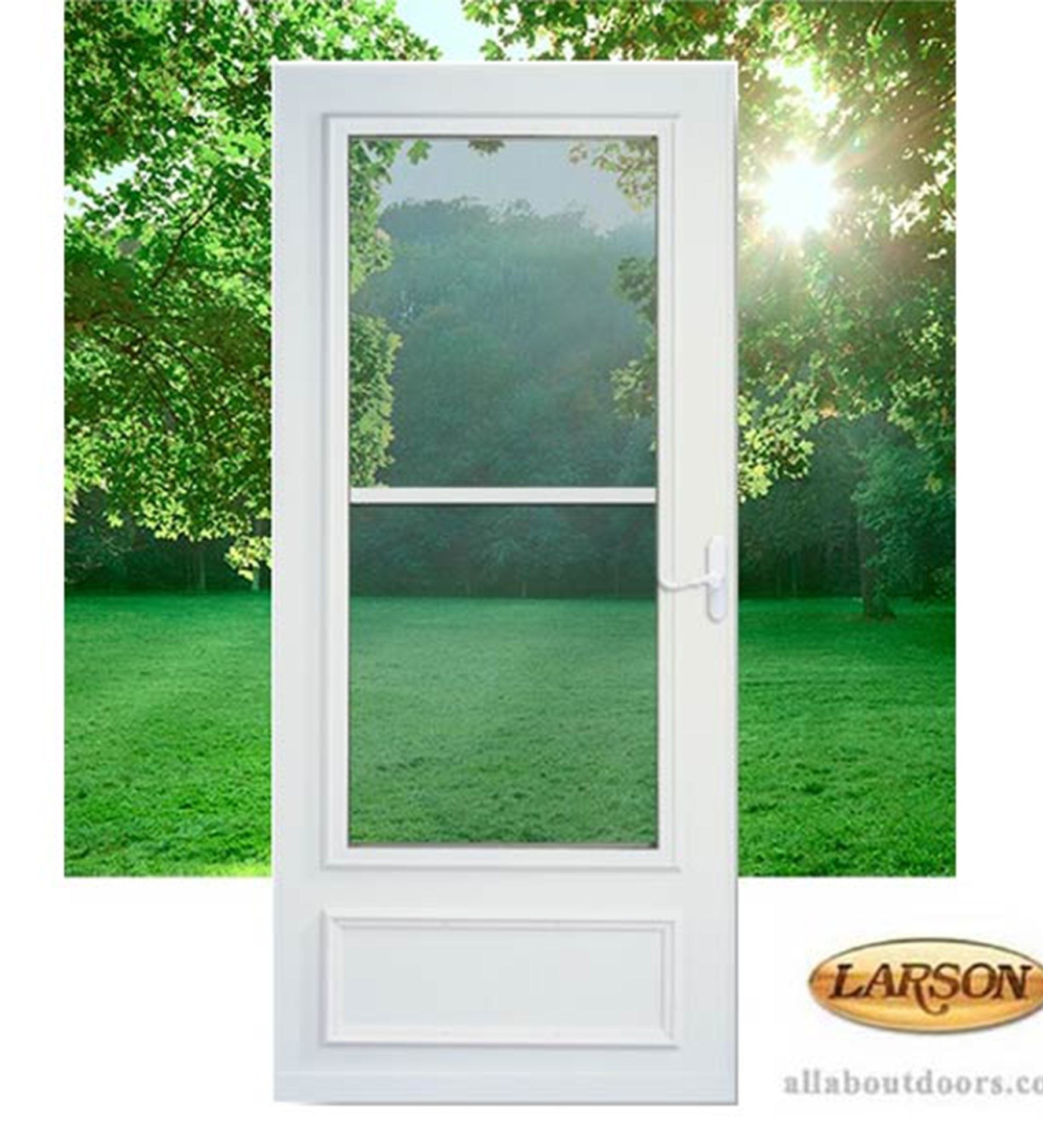 NSTALLED Larson Life-Core Pet Door Storm Door w/ Hardware STARTING $445