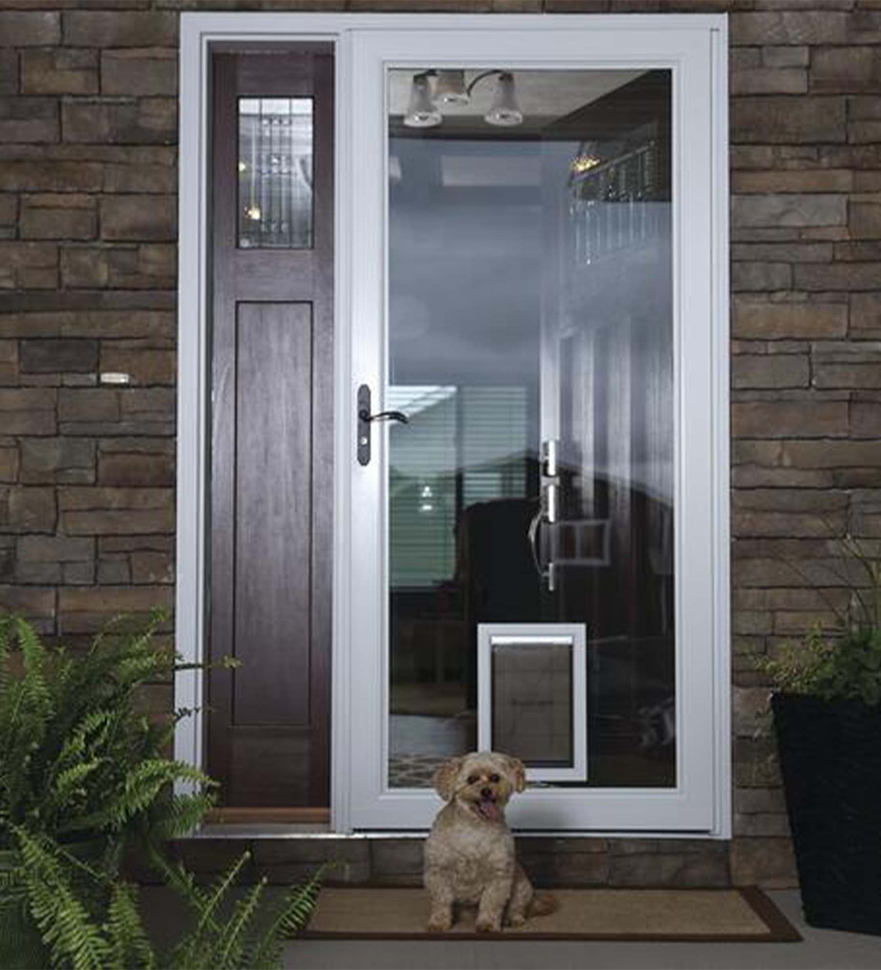 INSTALLED Larson Elegant Selection Full View Pet Dog Storm Door w/ Hardware         STARTING $770.99