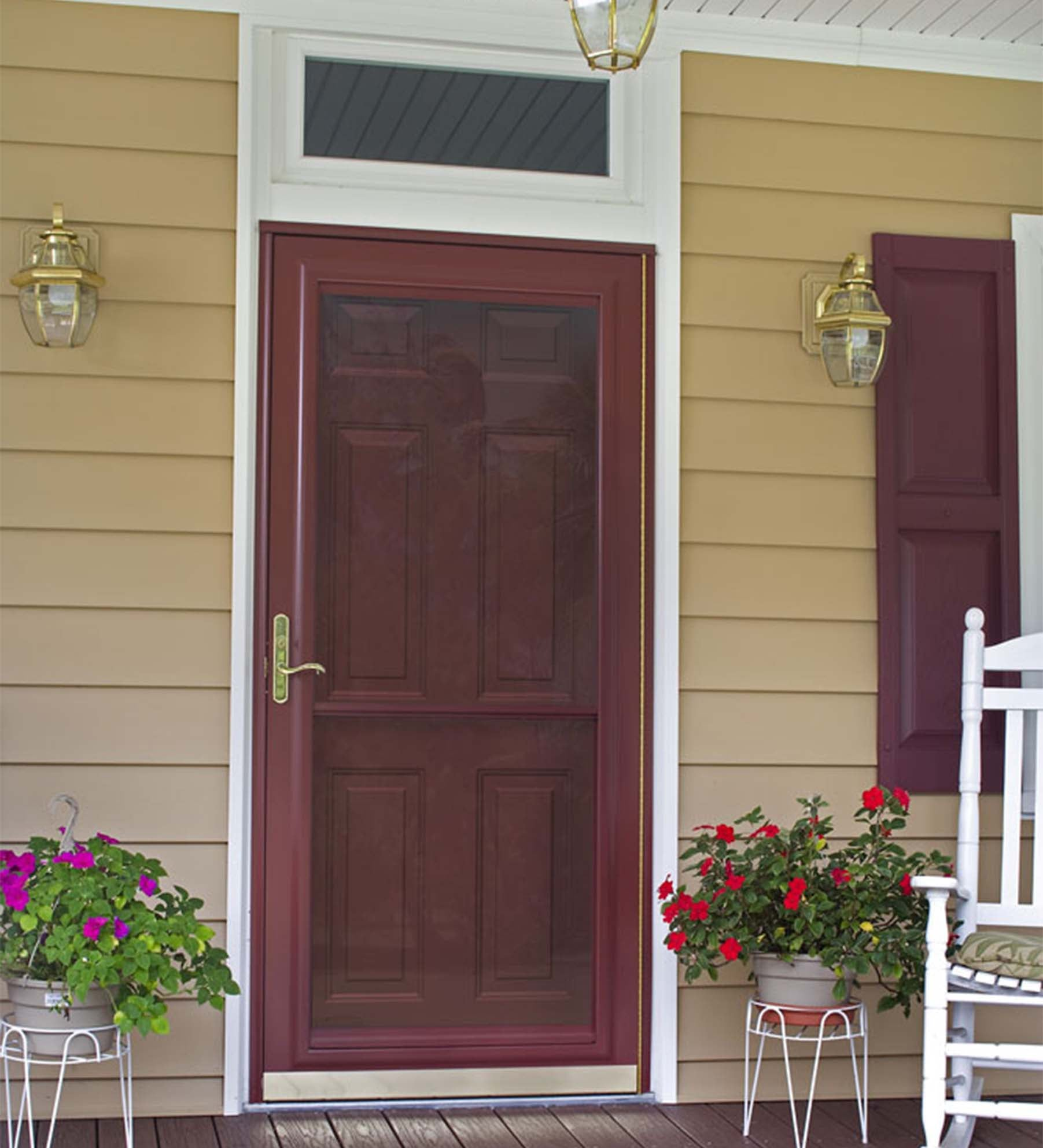 INSTALLED Larson Elegant Selection XTR Storm Door w/ Hidden Closer & Hardware     STARTING $425