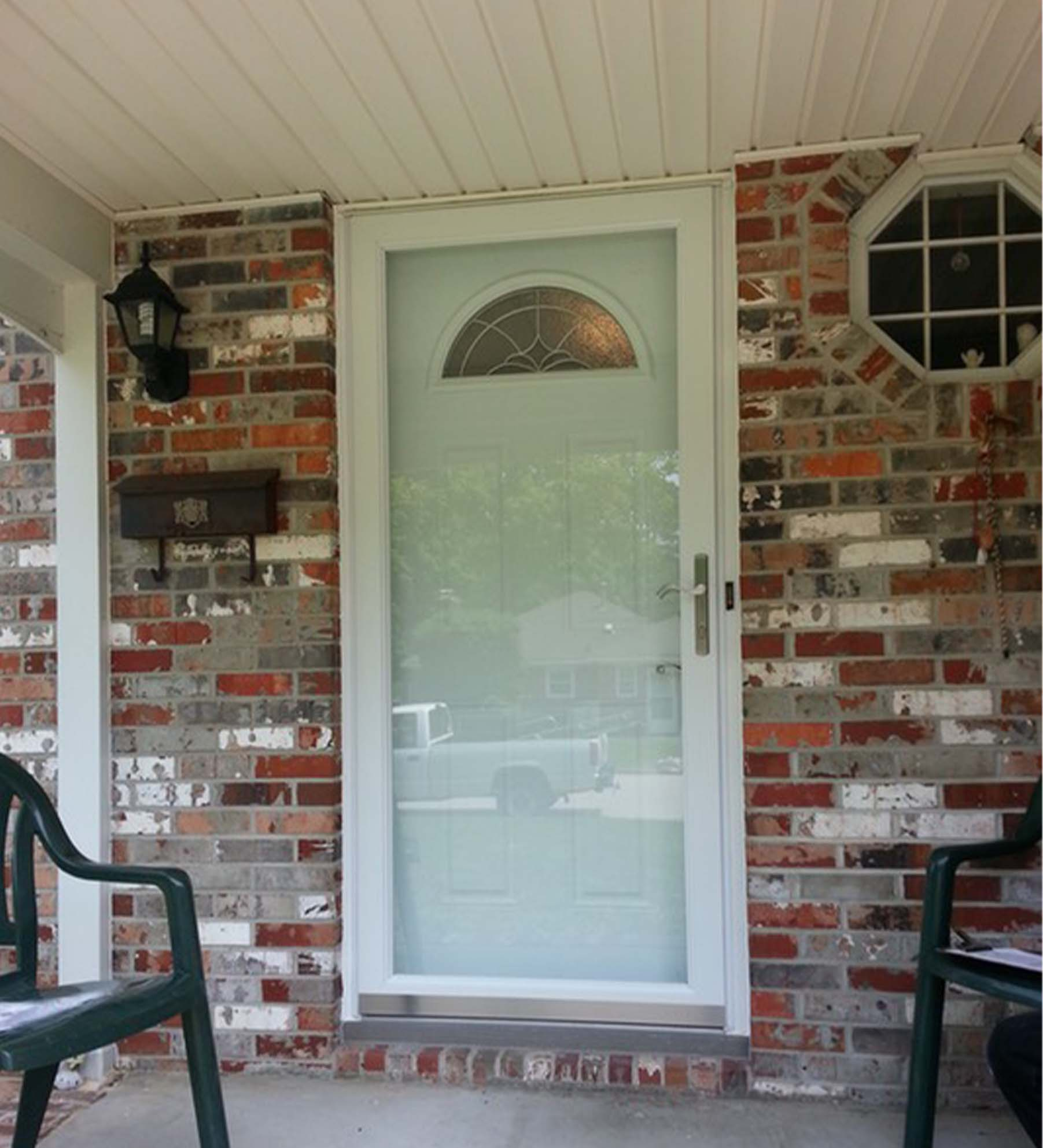 INSTALLED Larson Elegant Selection XTR Low-E Storm Door w/ Hidden Closer