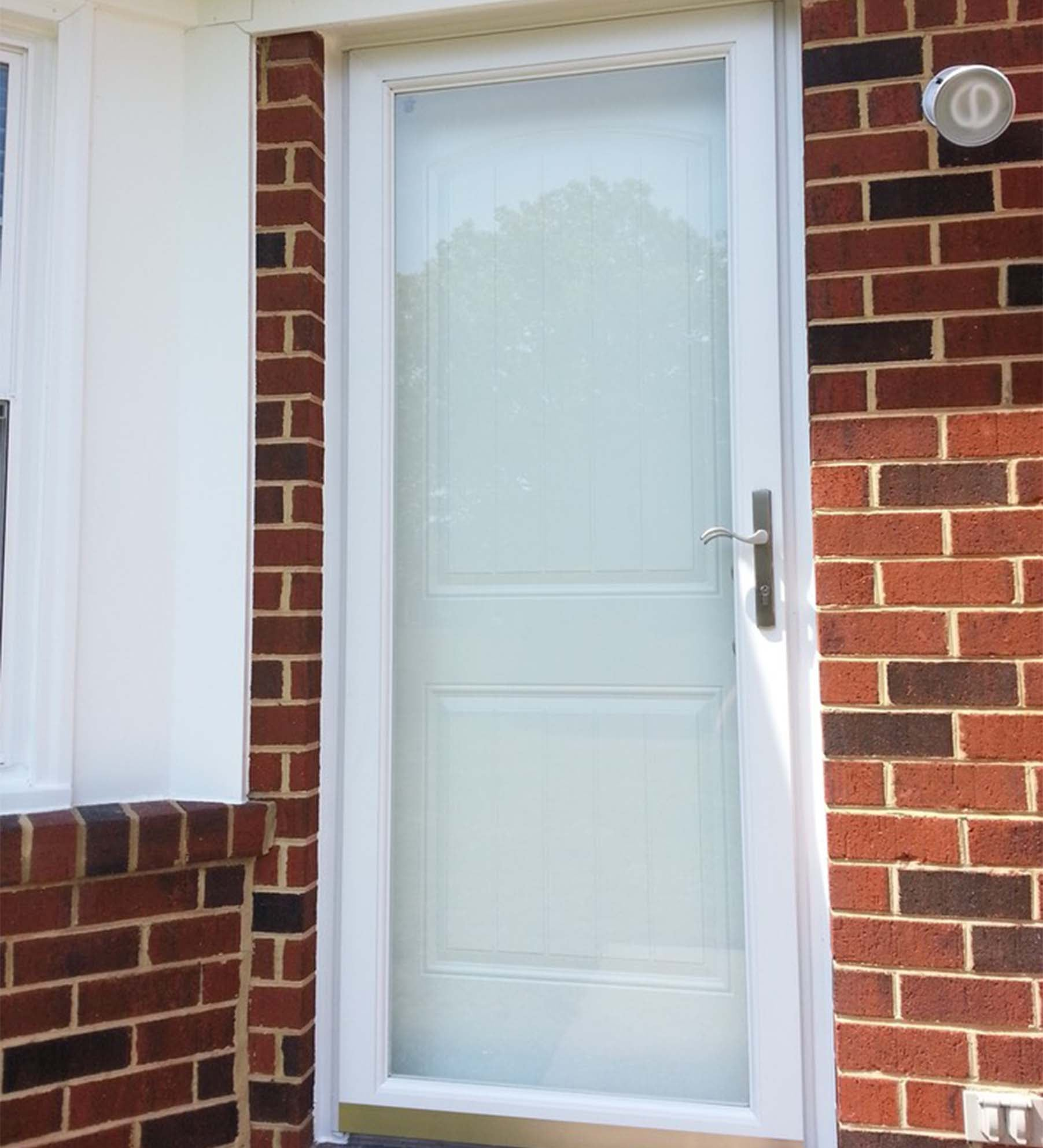 INSTALLED Larson Elegant Selection Storm Door