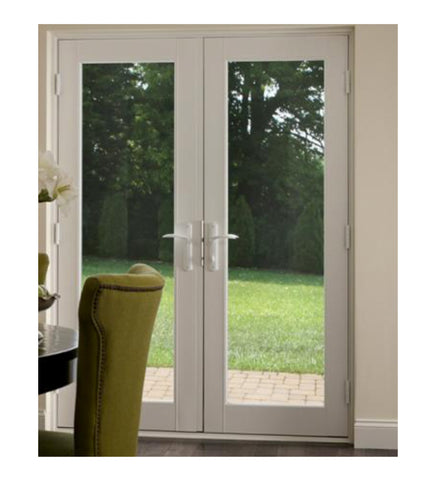 INSTALLED Milgard White Hinged Tuscany French Patio Door