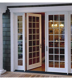 INSTALLED Milgard White Hinged Ultra French Door