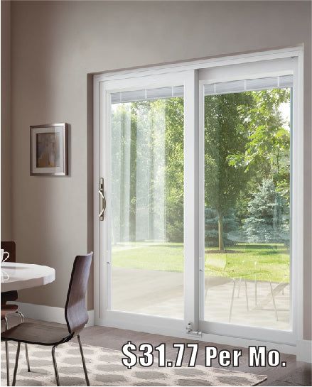 INSTALLED  Milgard White Tuscany Sliding Patio Door