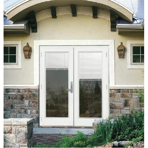 INSTALLED Jeld-Wen with Blinds in between Low -E Glass Steel Double French Door STARTING $1880.00