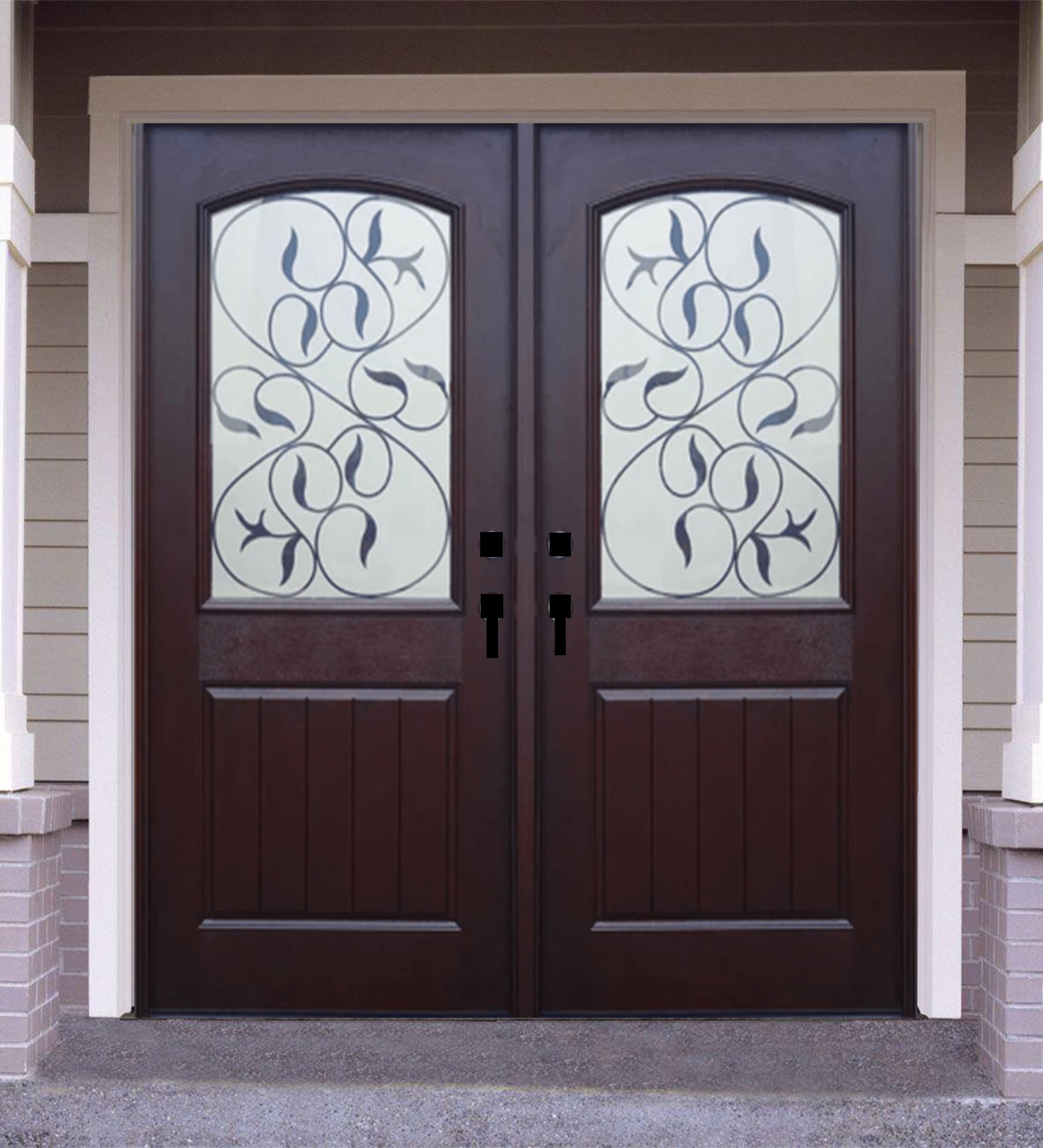 INSTALLED Crystal Double Fiberglass Front Entry Door FM200I-DB  STARTING $3,502.99