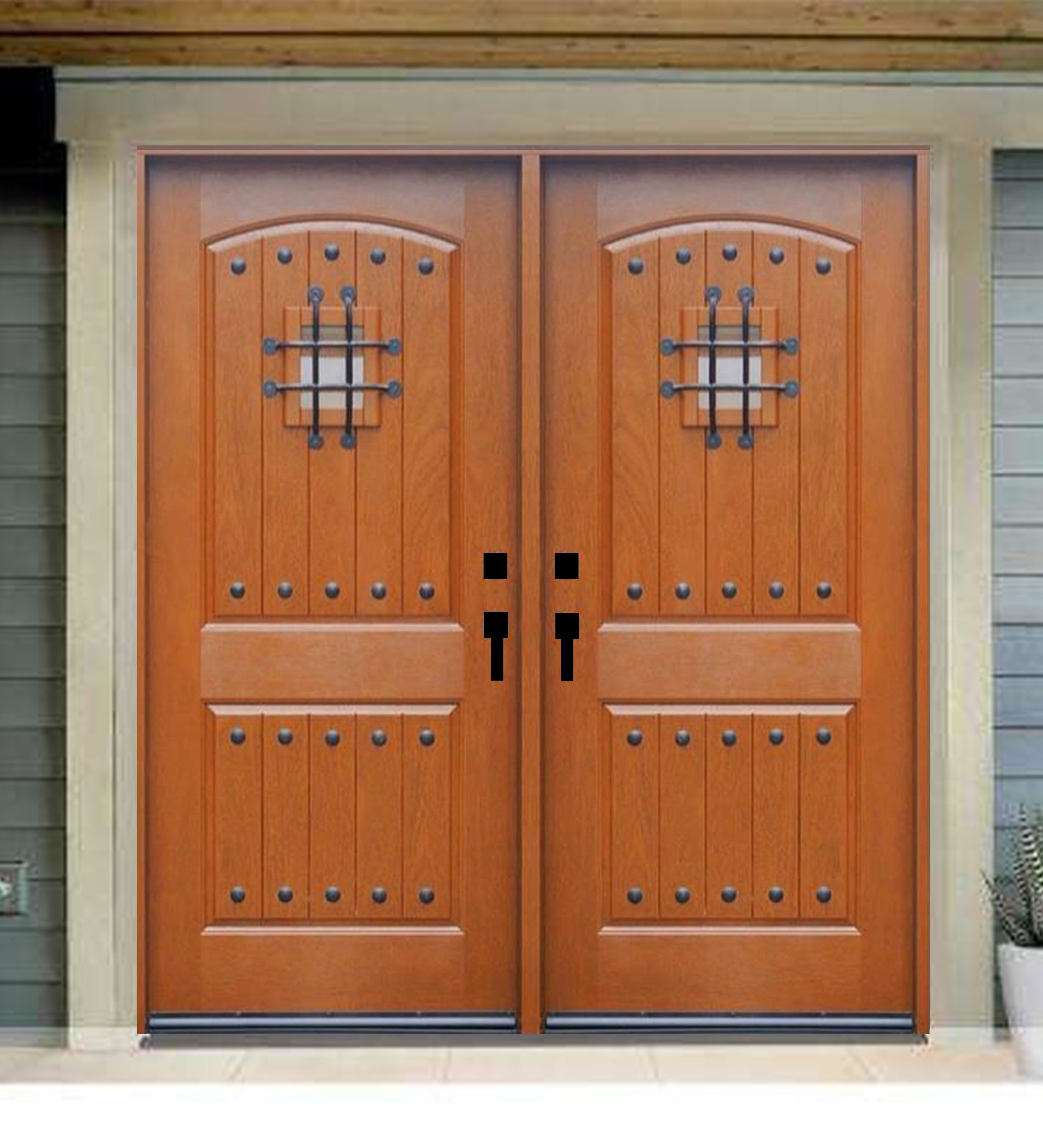 INSTALLED Crystal Double Fiberglass Front Entry Doors FM200W-DB STARTING $3,502.99