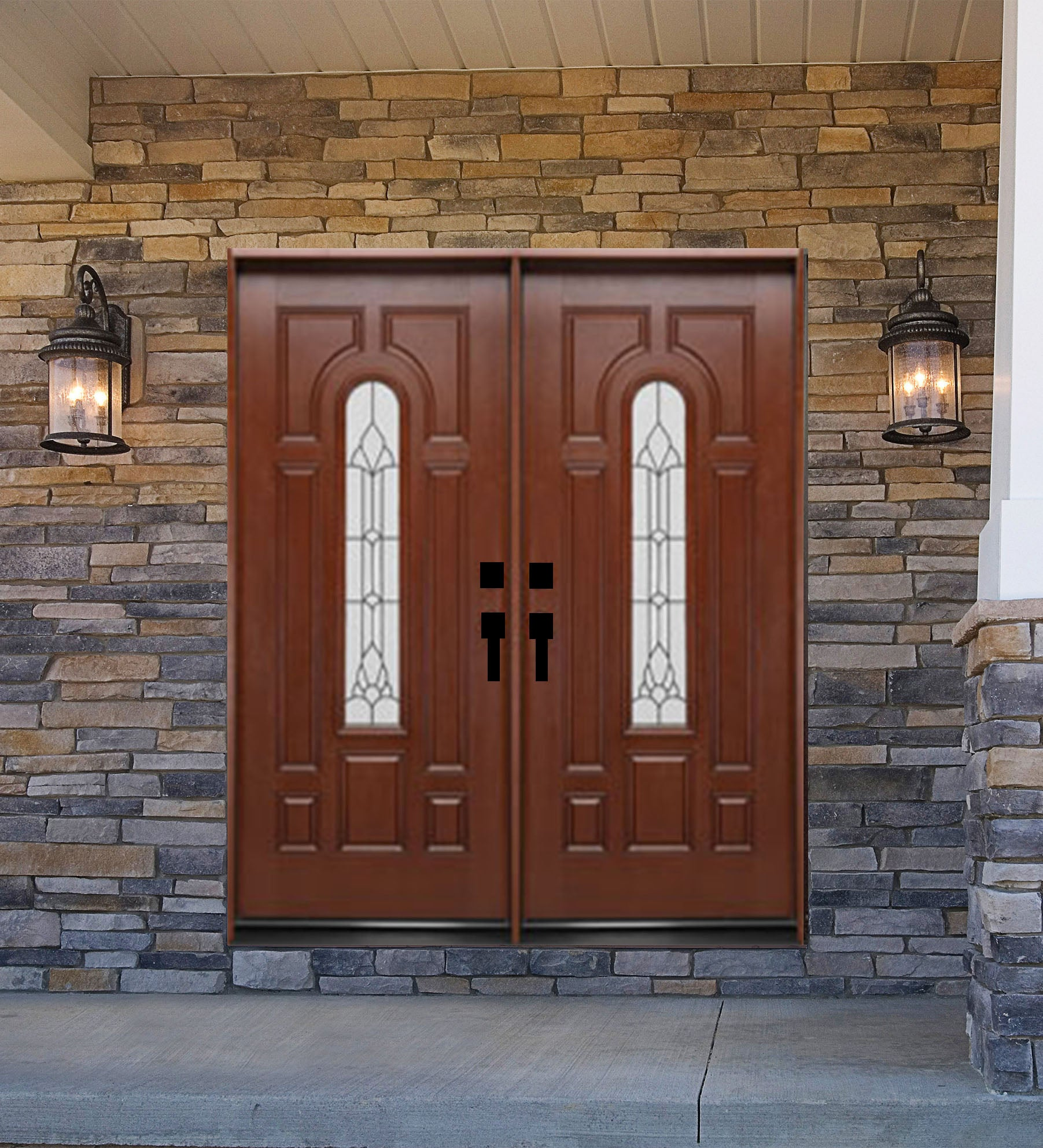 INSTALLED Crystal Double Fiberglass Front Entry Door FM280D-DB STARTING $3,502.99