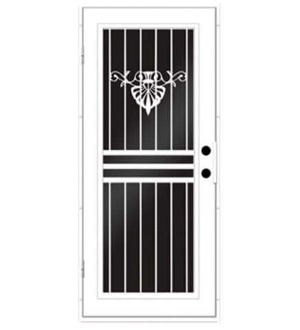 INSTALLED Titan Premium Aluminum Security Screen Single Door Seychelles       STARTING $1,110